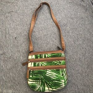 Crate & Barrel Botanical Plant Bag Purse